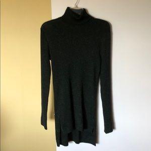 Ruff Hewn Green Shimmer Turtleneck sweater Sz. Lg